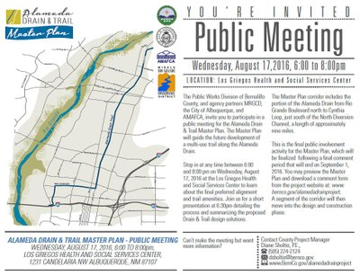 Public Meeting: Alameda Drain & Trail Master Plan