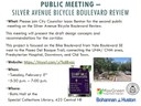 Public Meeting: Silver Avenue Bicycle Boulevard Review