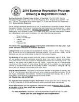 Summer Recreation Program Drawing and Registration