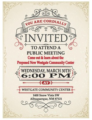 Public Meeting: Proposed New Westgate Community Center