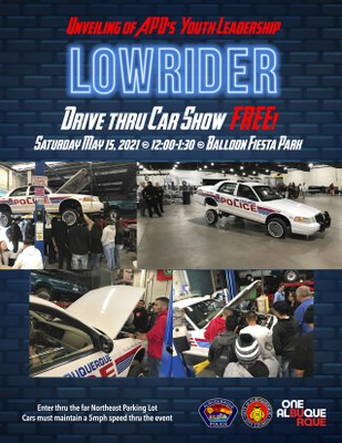 Unveiling of APD's Youth Leadership Lowrider