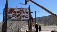Mountain Lodge Motel Sign Donated to Route 66 Visitor's Center
