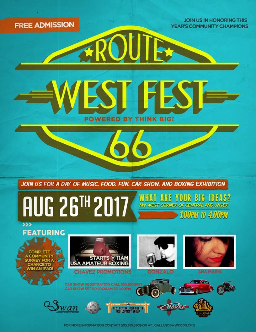 Route 66 Westfest City Of Albuquerque