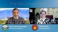 Southwest View featuring City Councilor Klarissa Peña and County Commissioner Steven Michael Quezada