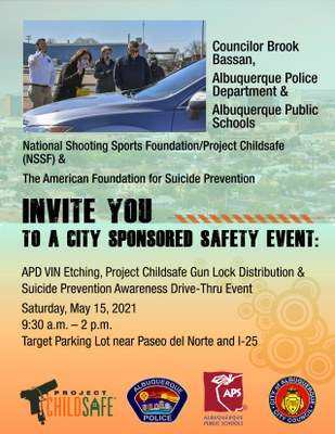 APD VIN Etching, Project ChildSafe Gun Lock Distribution, and Suicide Awareness Drive-Thru Event