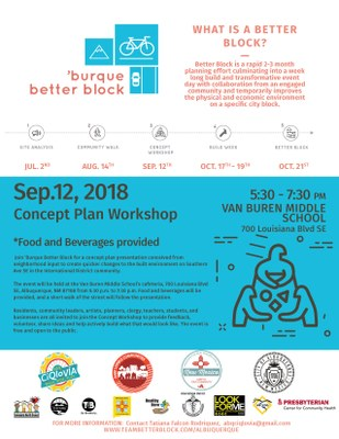 'Burque Better Block Concept Plan Workshop