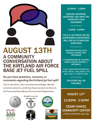 Community Conversation About the Kirtland Air Force Base Jet Fuel Spill