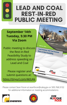 Lead and Coal Rest-In-Red Public Meeting