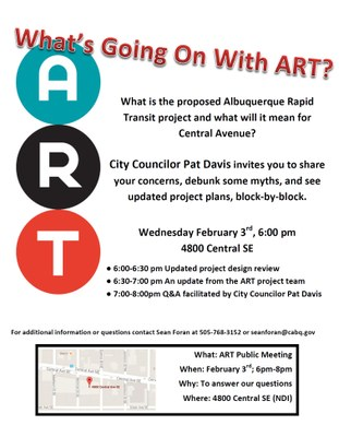 What's Going On With ART? Community Forum on Rapid Transit