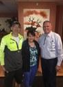 Councilor Borrego and David Simon with Dennis Vasquez