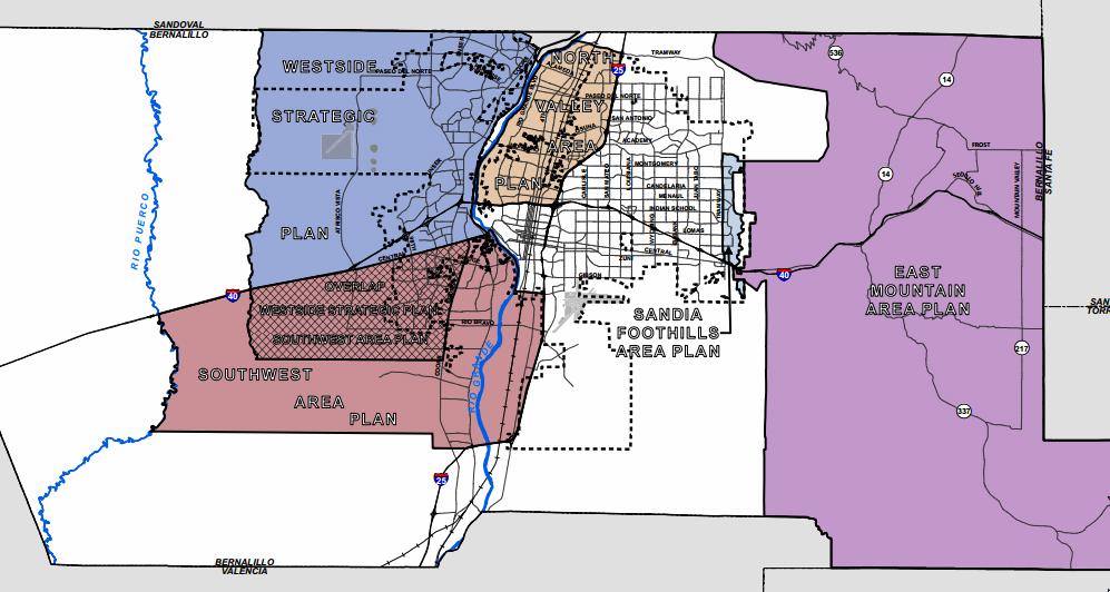 Area Plans Map