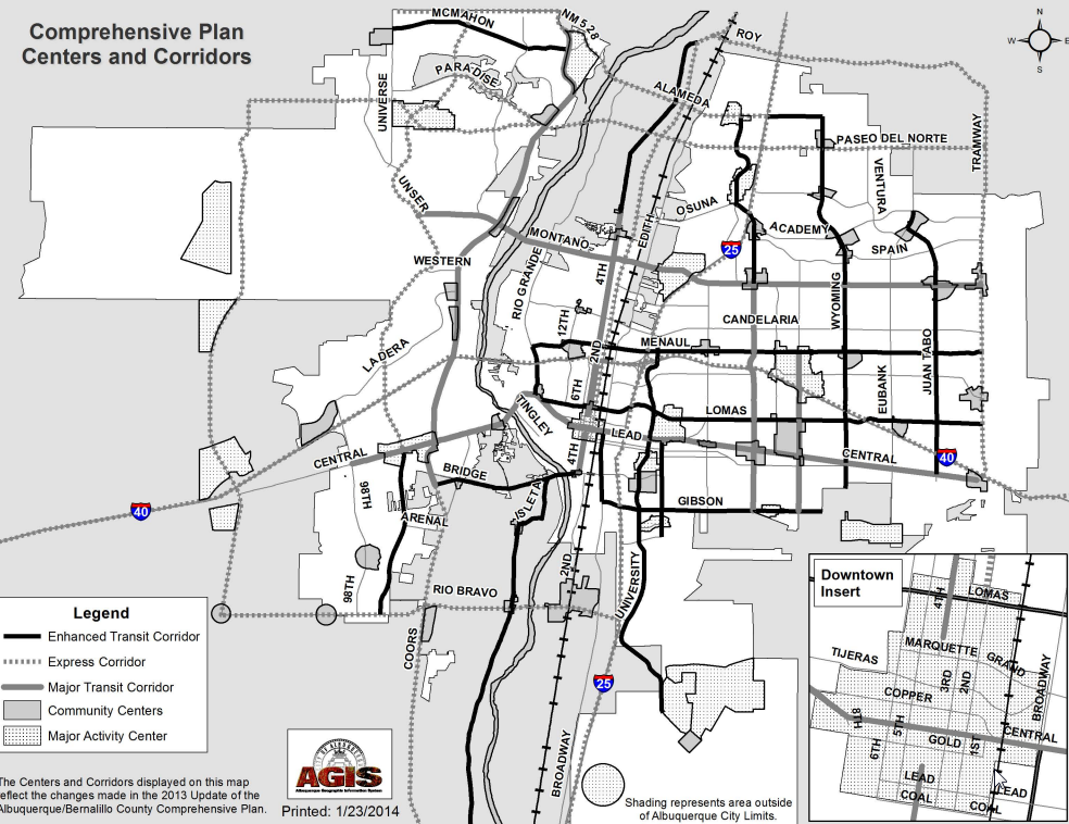 Comp Plan Centers and Corridors