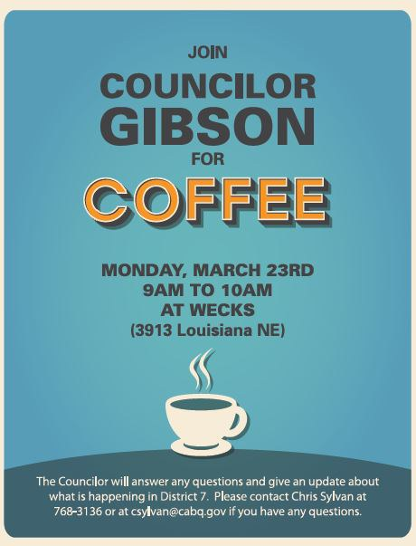 Councilor Gibson Coffee March 23rd