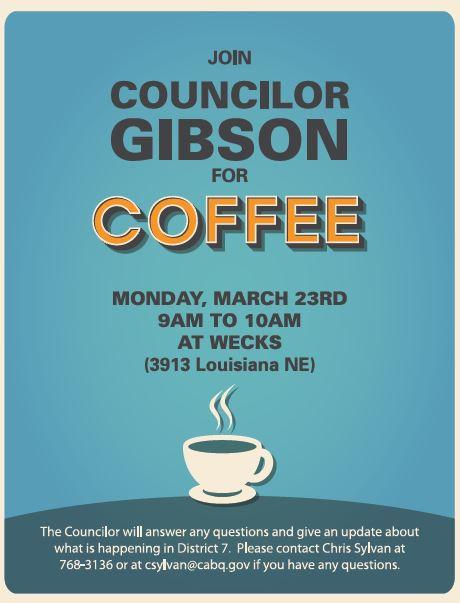 Councilor Gibson Coffee March 23rd