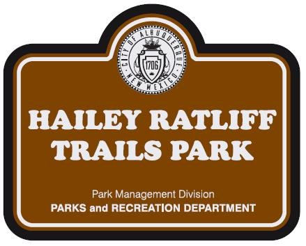 Hailey Ratliff Trails Park Sign