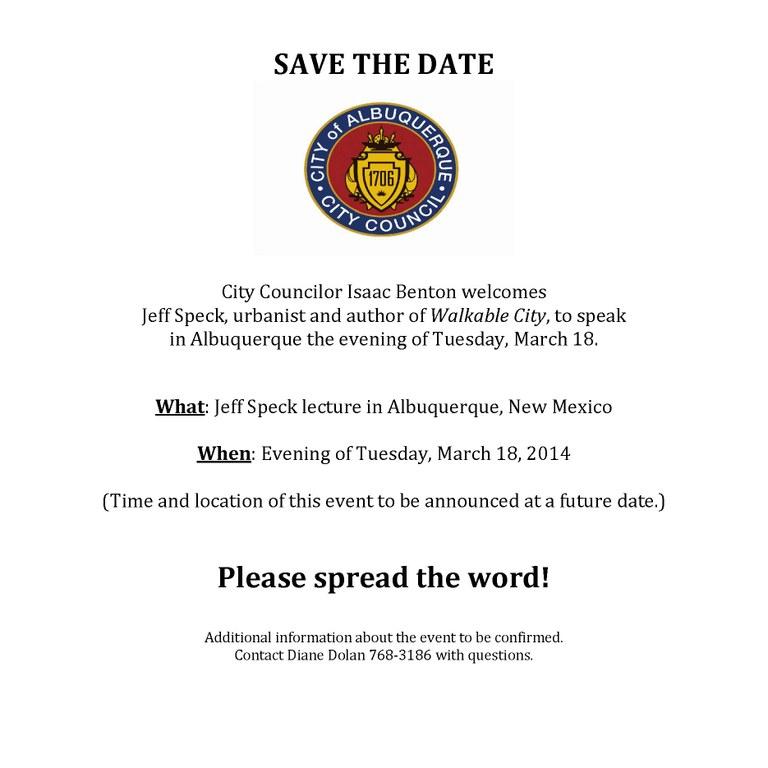 Jeff Speck Invitation Image