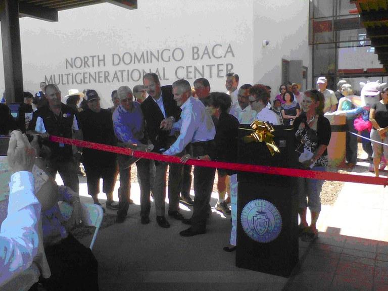 North Domingo Baca Ribbon Cutting