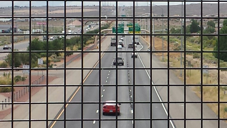 Celebration of new off ramp at I40 and Unser