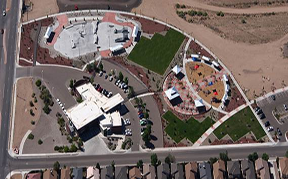 Birds Eye View of North Domingo Baca Park