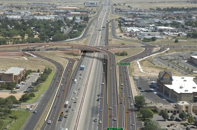 caption:Paseo del Norte and I25 construction project computer simulation