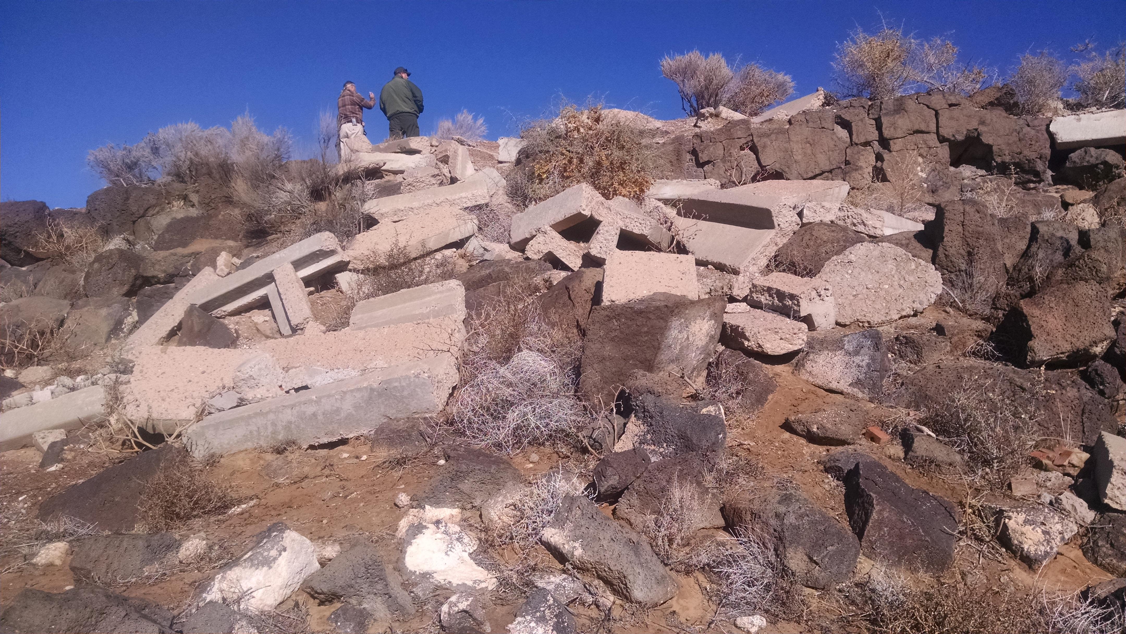 caption:Petroglyph Clean Up