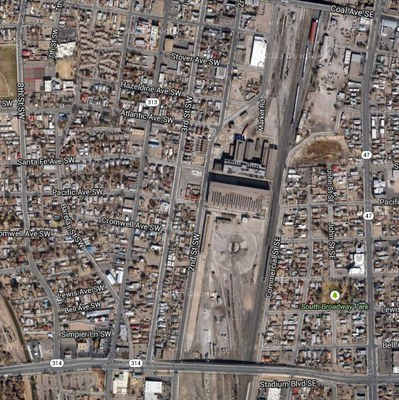 caption:Google Map of Rail Yards and surrounding area