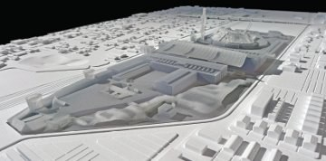 Draft Rail Yards Master Plan Model