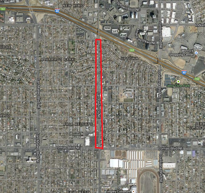 San Pedro Mile Hi District Map