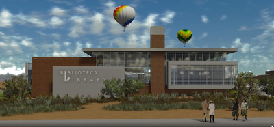 caption:Drawing of the final library design.