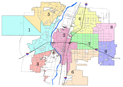 Image of Albuquerque City Council District Map