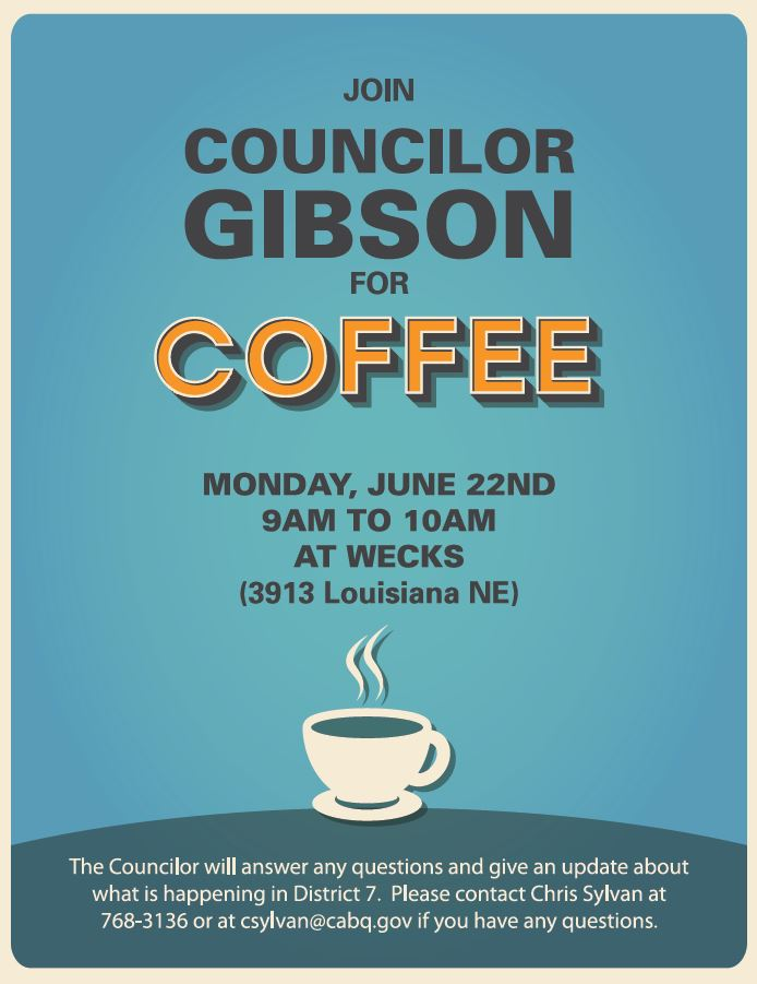Coffee with Gibson 6.22.15