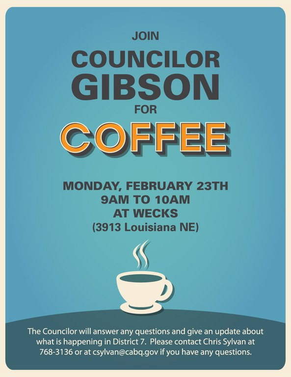 Coffee with Gibson Feb 23 2015
