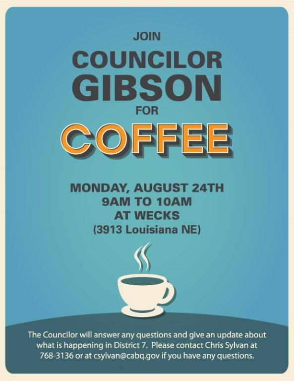 District 7 Coffee with a Councilor August