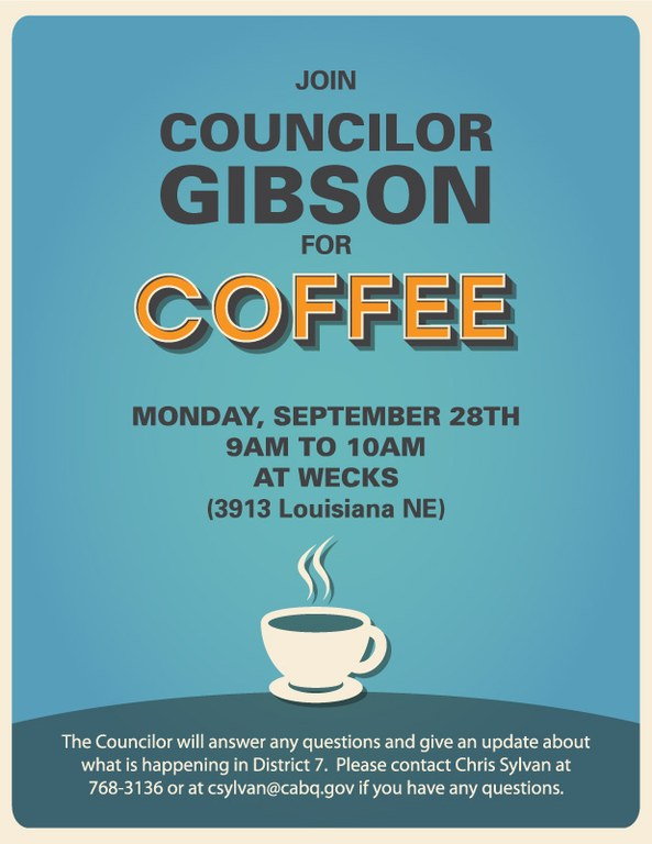 District 7 Coffee with the Councilor Sept
