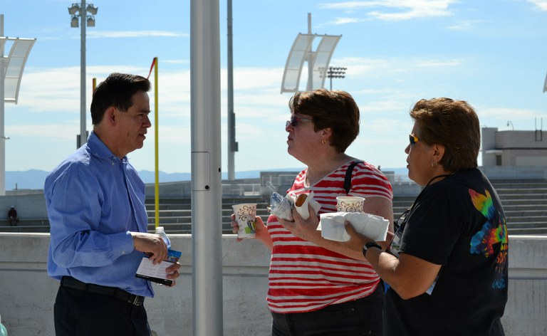Council Sanchez and Albuquerque Residents tour West Side Football Stadium