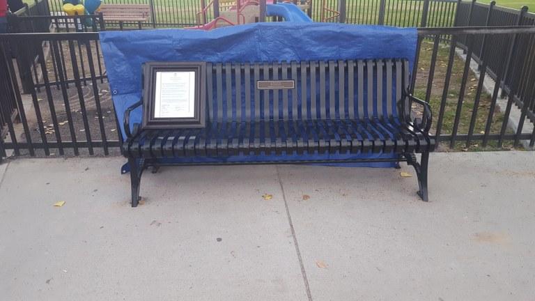 Marta Belden bench dedication