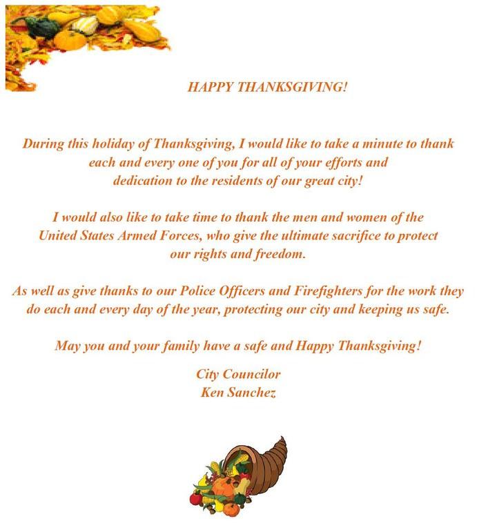 Sanchez Thanksgiving