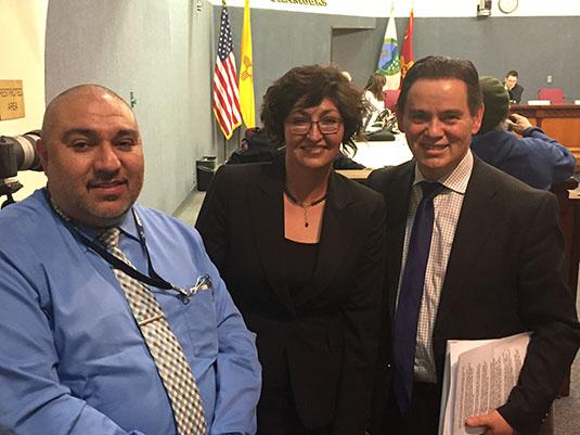 Councilor Sanchez with Judge Flores