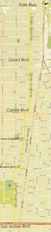 Silver Ave Map