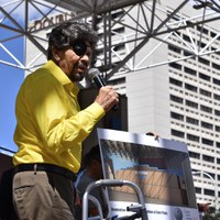 """Slideshow from Tribute to a Legend: """"The Godfather"""" Al Hurricane on Civic Plaza"""