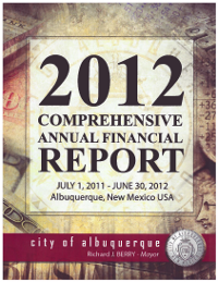 2012 City Financial Report Cover