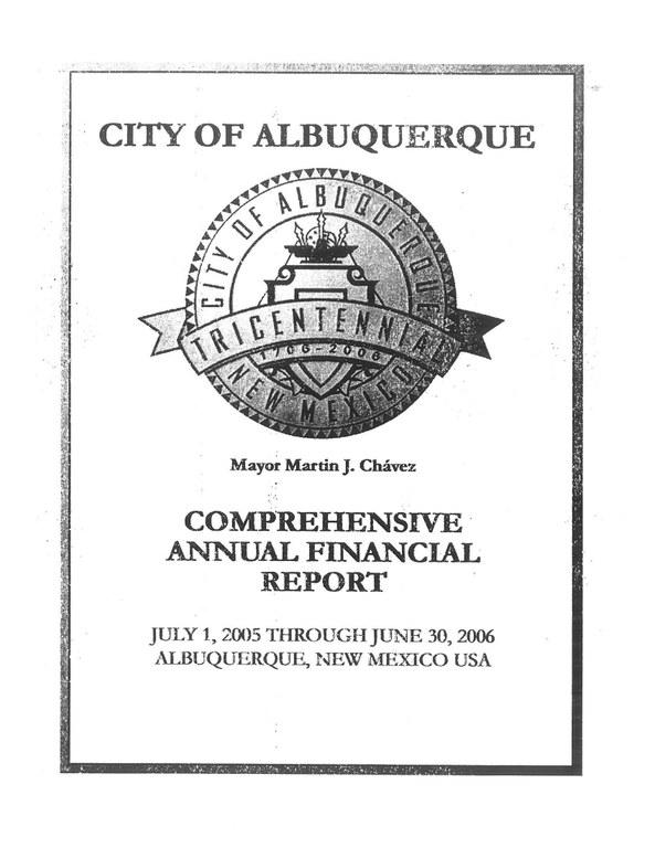 Comprehensive Annual Financial Report 2006
