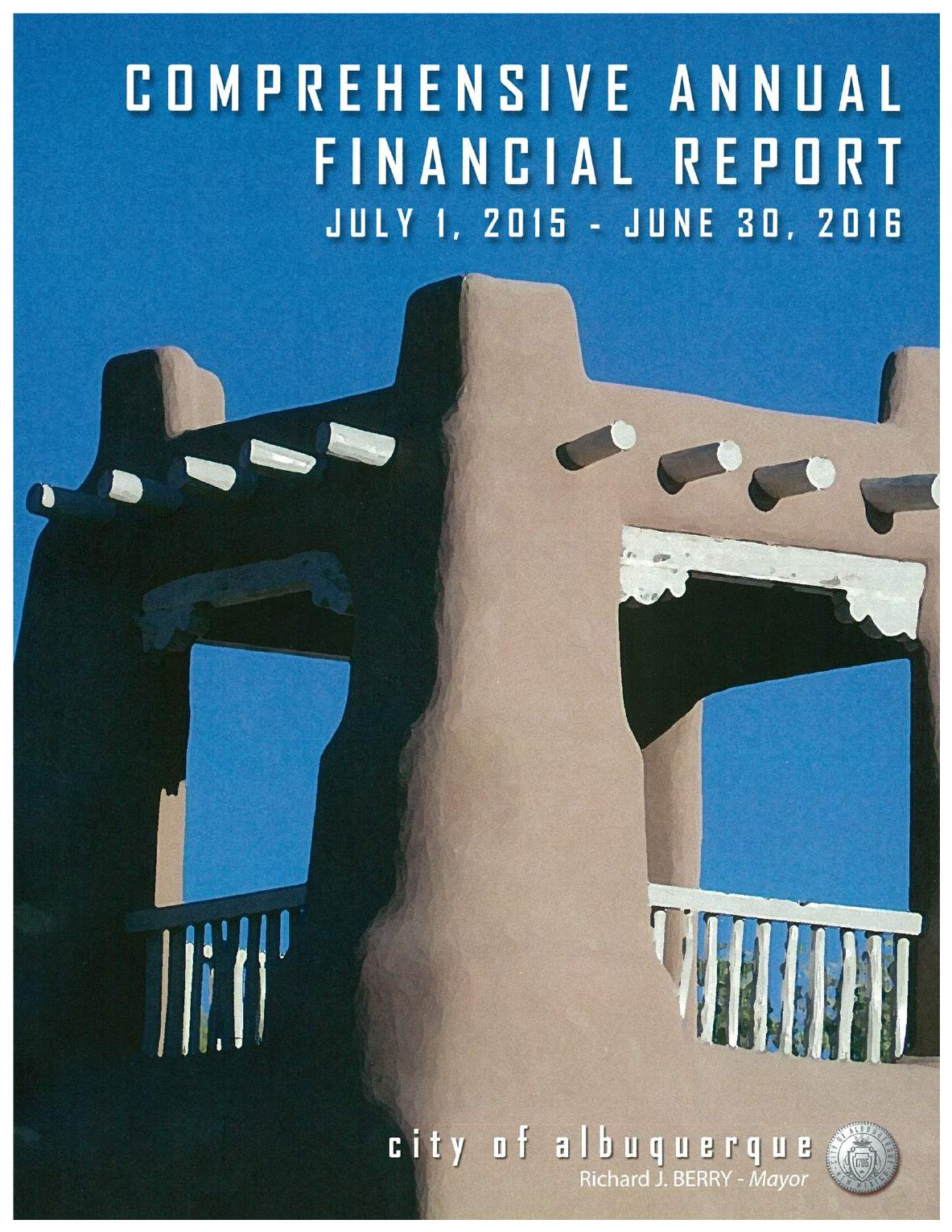 Comprehensive Annual Financial Report Cover - 2016