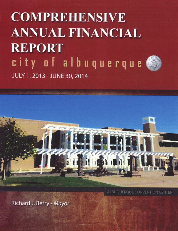 Comprehensive Annual Financial Report Cover - Fiscal 2014