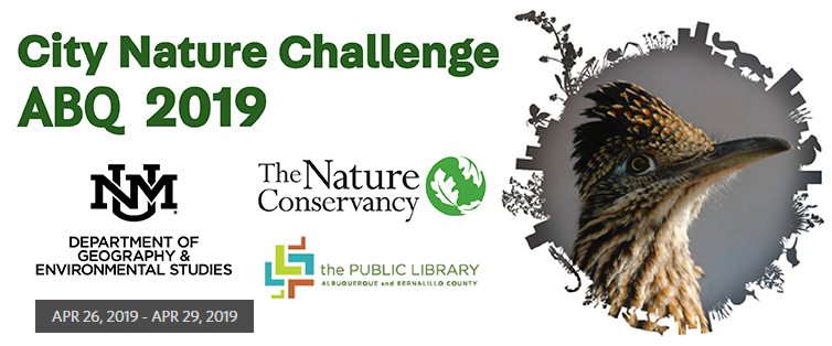 City Nature Challenge 2019 Flier.