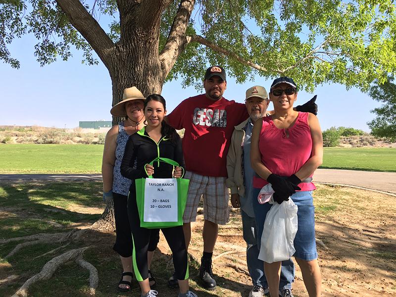 Taylor Ranch Neighborhood Association Volunteers in a park.