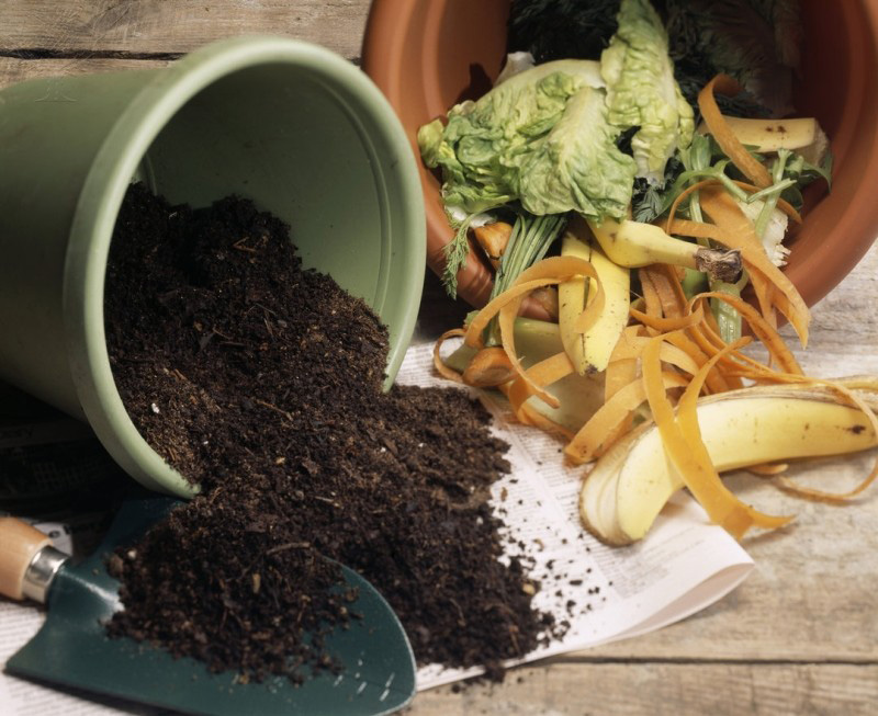 A home composting setup.