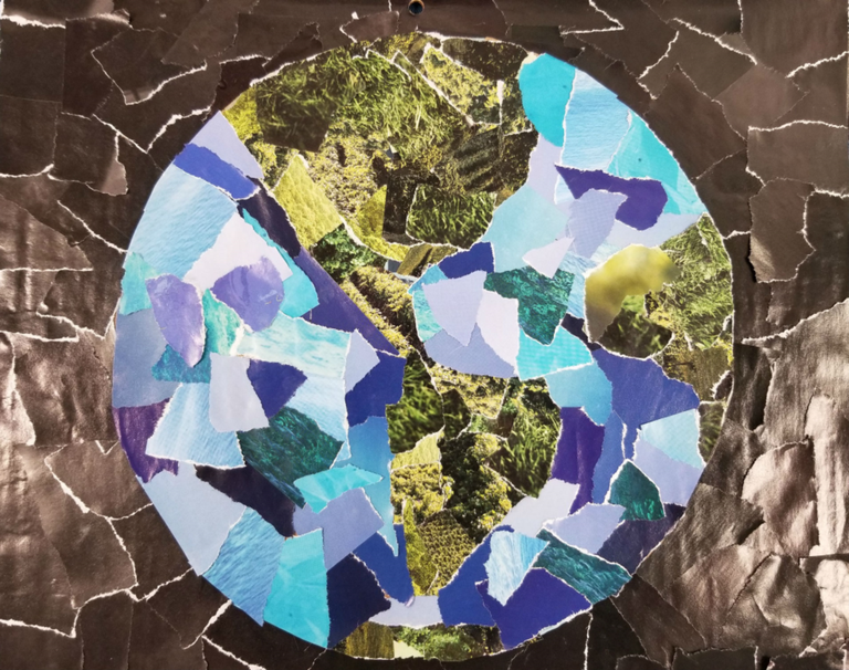 Earth Day Collage Art