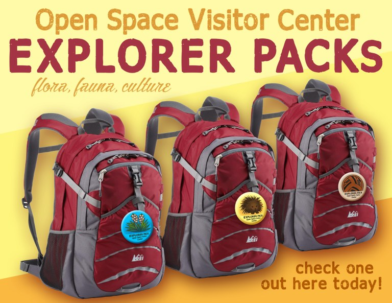 A flier for the Explorer Packs Program.