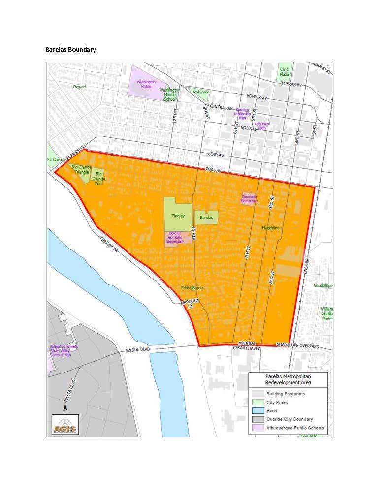 Barelas Mainstreet Recovery Grant Boundary
